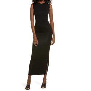 Next Black Sleeveless Bodycon Stretch Long Maxi Dress Size 8